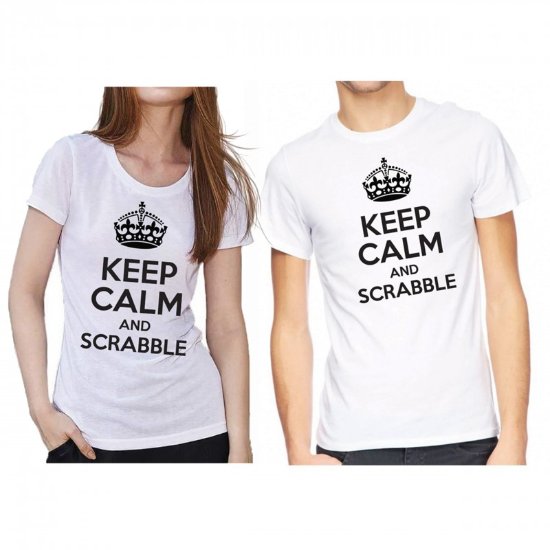 Tee shirt keep calm and Scrabble