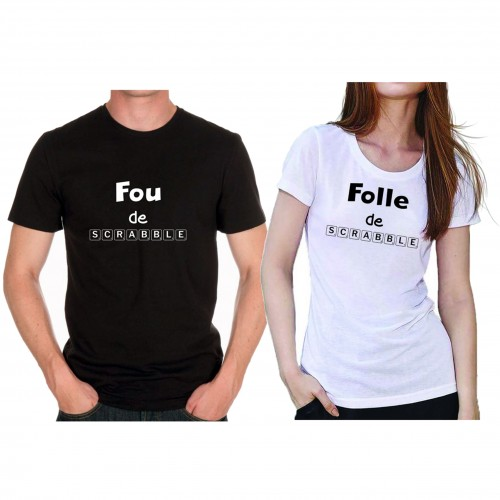 "Tee shirt ""Fou de Scrabble"""