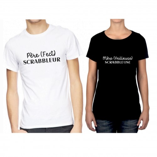 "Tee shirt ""Parents Scrabbleurs"""