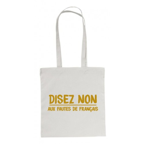 "Sac shopping ""Disez non"""