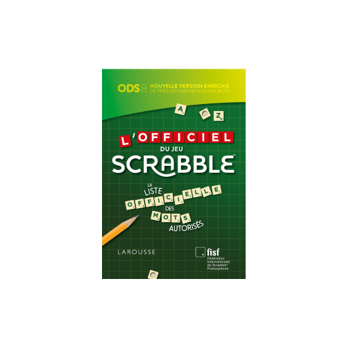 "Dictionnaire ""officiel du scrabble ODS 8"""